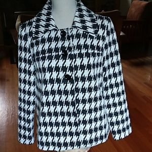 PINKY & DIANNE houndstooth lined jacket Small🌼